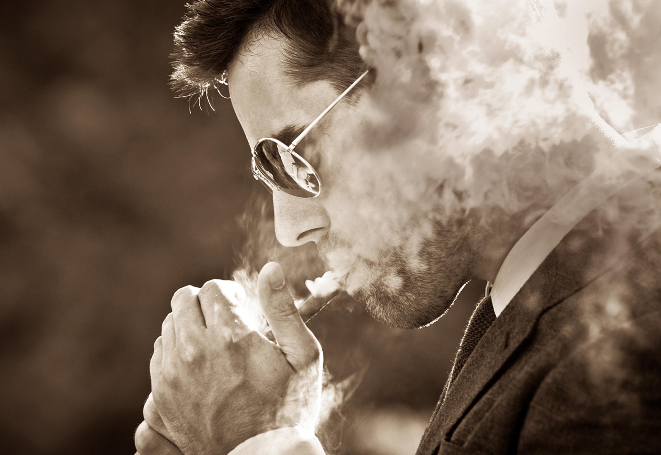 Cigar Smoker by Kimball Hall