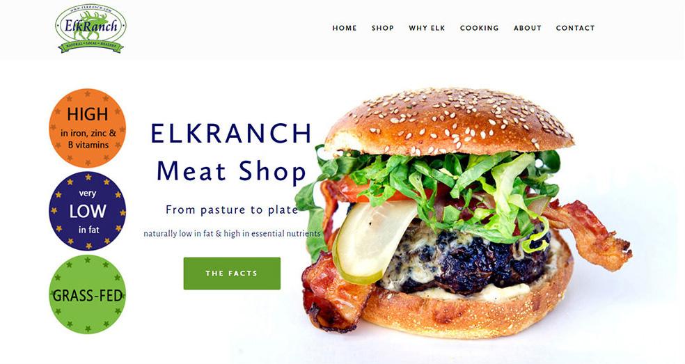 Food and Farm website development example