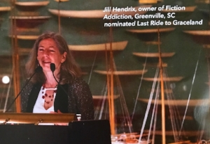 Jill Hendrix, owner of Fiction Addiction, nominated Kim's novel for the prize.