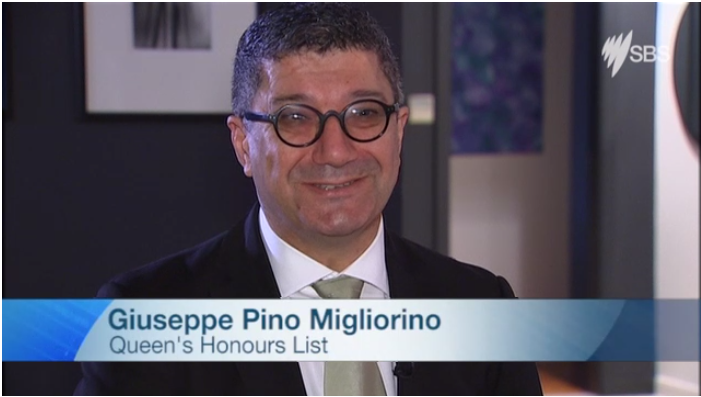 Pino Migliorino, Managing Director of Cultural Perspectives Group, speaks at an interview with SBS