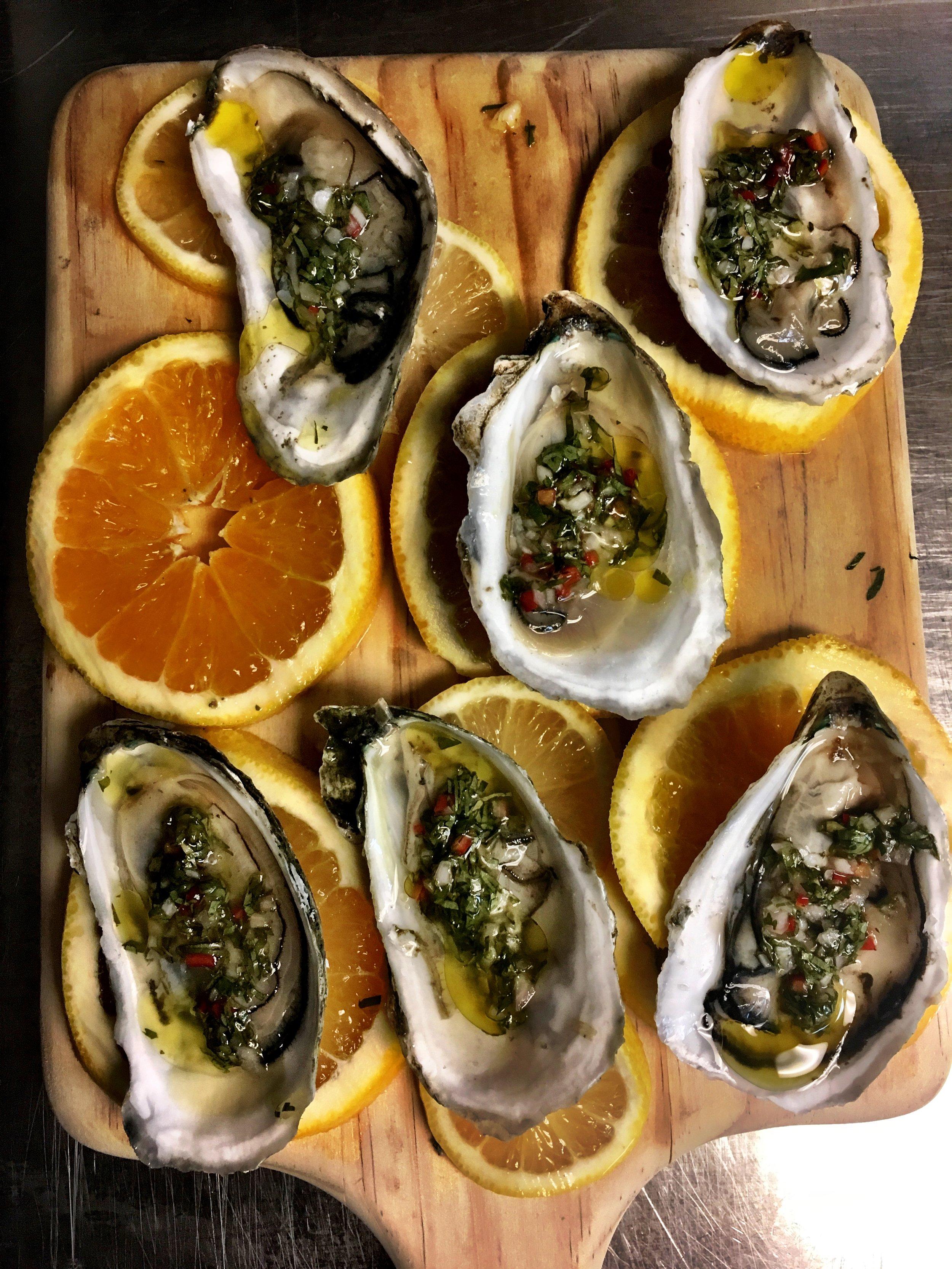 Marcus Samuelsson Oysters with Thai Mignonette Recipe