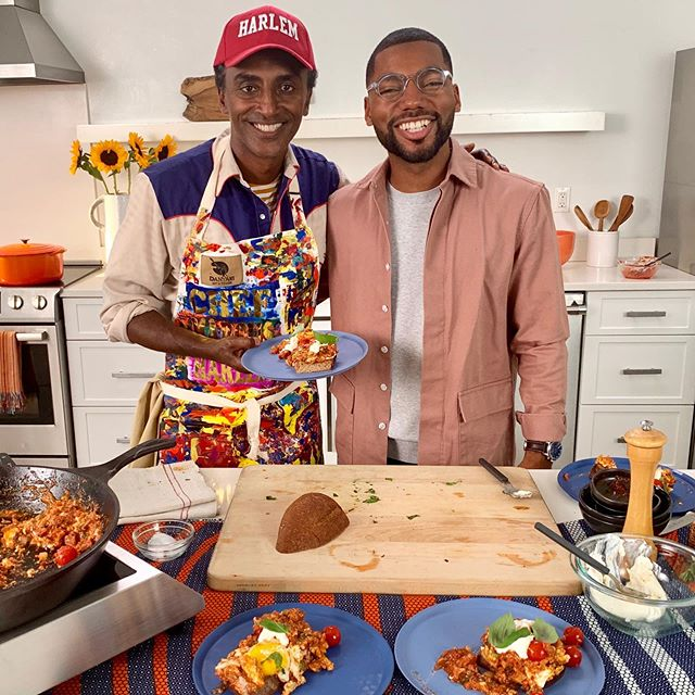 Had an amazing time with @wallstreetpaper cooking up Sunday Eggs from Our Harlem, the first ever @audible audio cookbook, on our Facebook live today. Didn't catch the livestream? Head over to my Facebook to see it in full, and check the link in bio to download Our Harlem. Happy listening! #audible #ourharlem #audiobook #cookbook