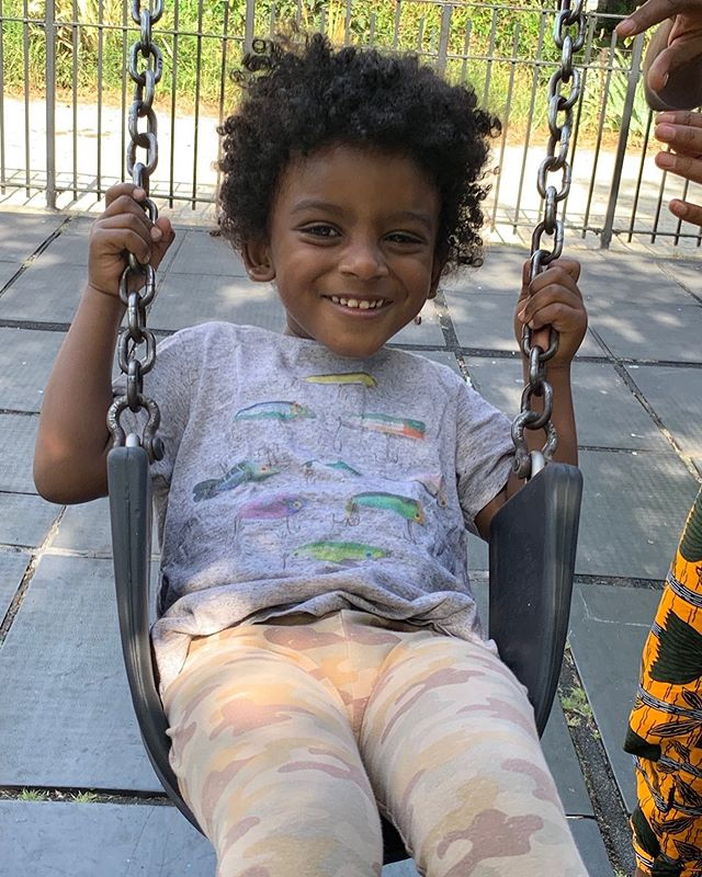 Swinging into the weekend with a smile. #son #zion #family