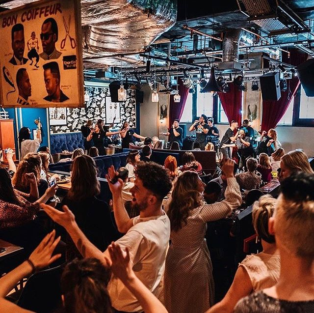 Gospel brunch - one of my favorite Red Rooster traditions - spans continents across the pond at @redrooster_ldn, where the @housechoir brings down the house every Sunday. #gospelbrunch #redroosterlondon #redrooster #shoreditch