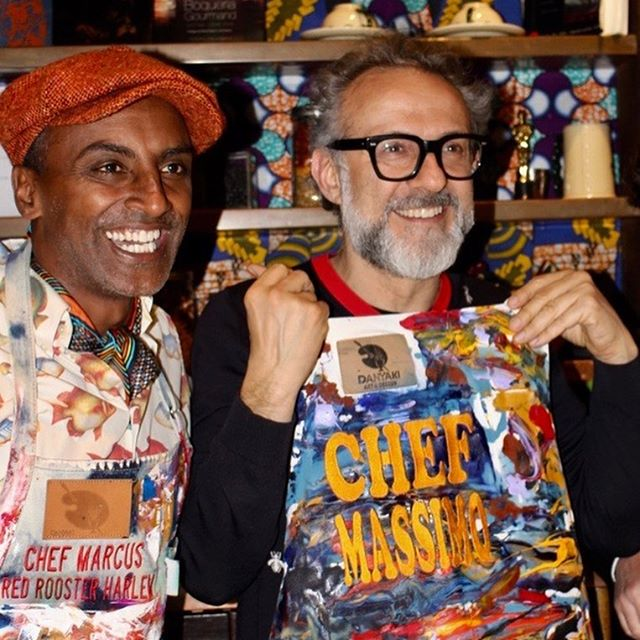 Happy Birthday to the one and only @massimobottura - was an honor to cook with you and our team at @roosterharlem for @harlemeatup this year! Hope you're rocking that apron in Modena. #massimo #massimobottura #redrooster #harlemeatup