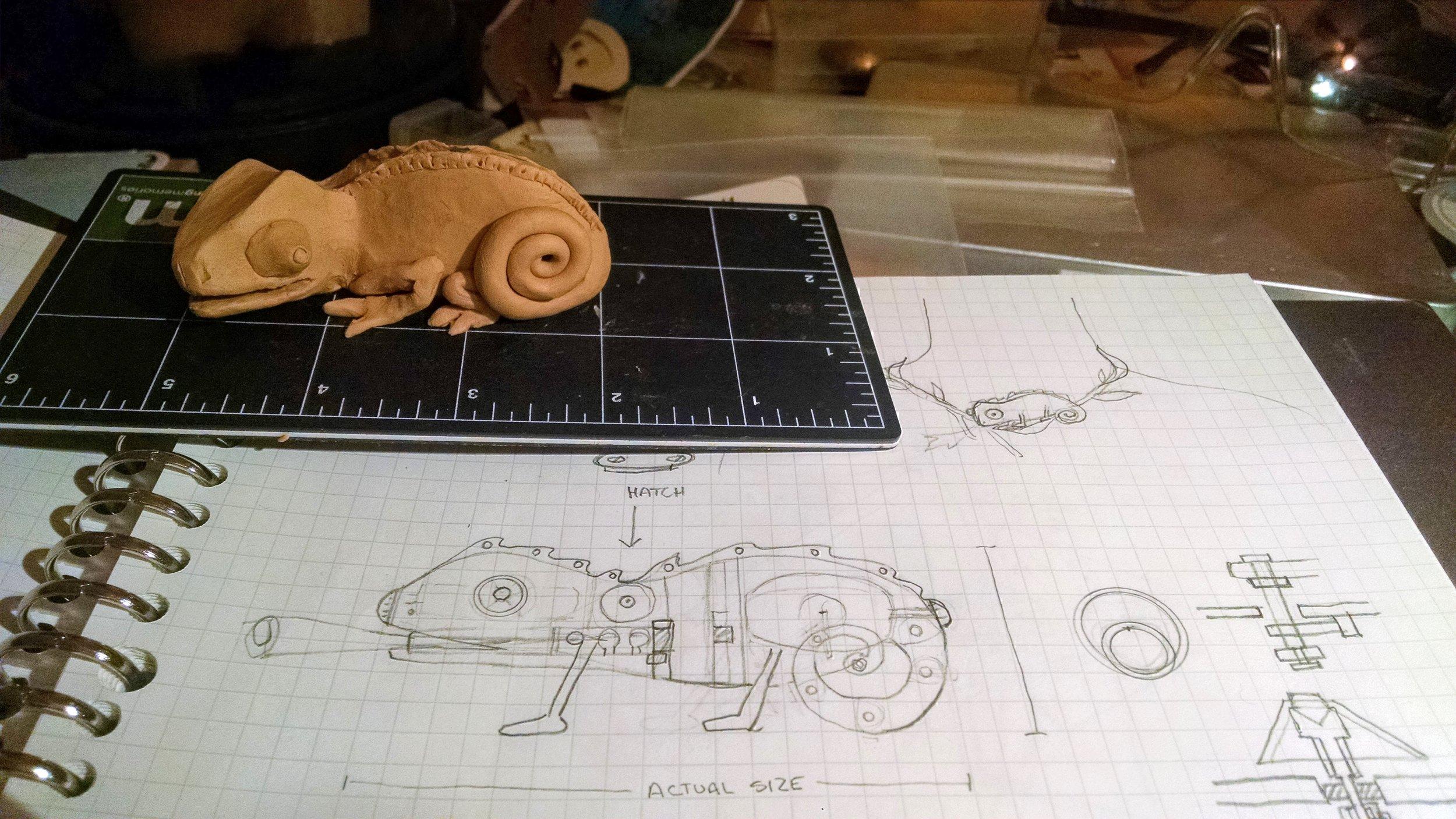 Chameleon Model and Diagrams
