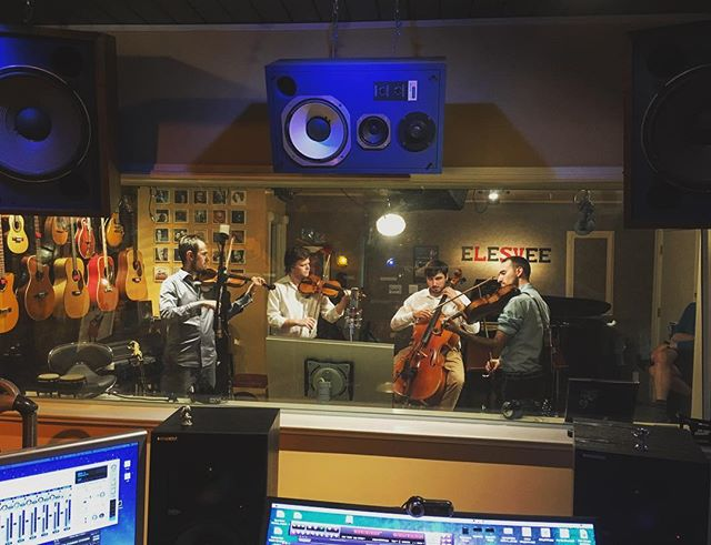 Had a great time tracking with @invoke.sound at @elesvee a few weeks back! . . . . . #atx #atxmusic #recording #tracking #livemusic #invokestrings #bluegrass #classical #violin #bass #guitar #singing #vocal coaching #musicproducer #recordingstudio