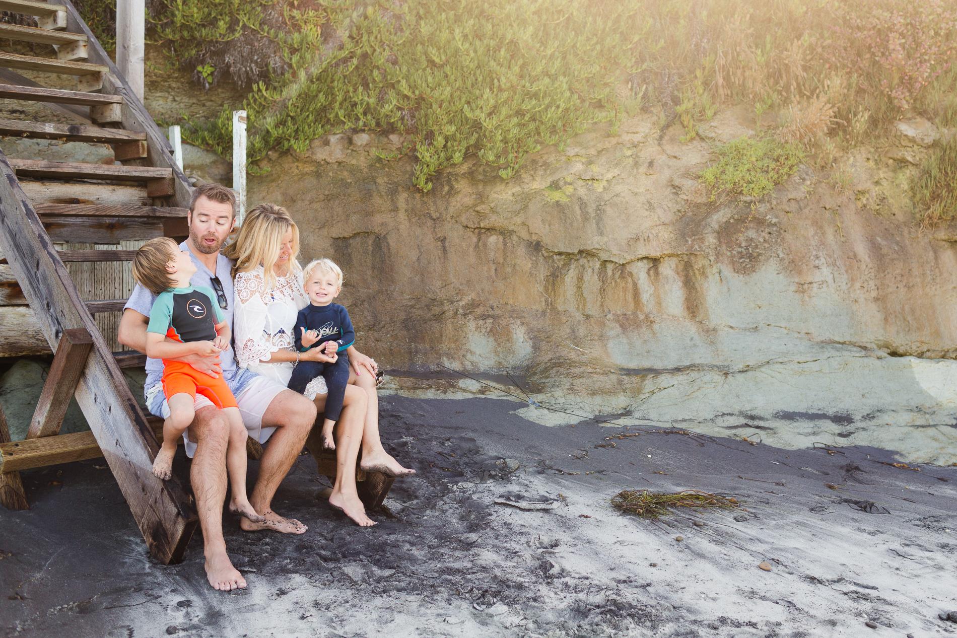 Encinitas Family Photographer | Christine Dammann Photography 2017 | Family at Grandview Beach