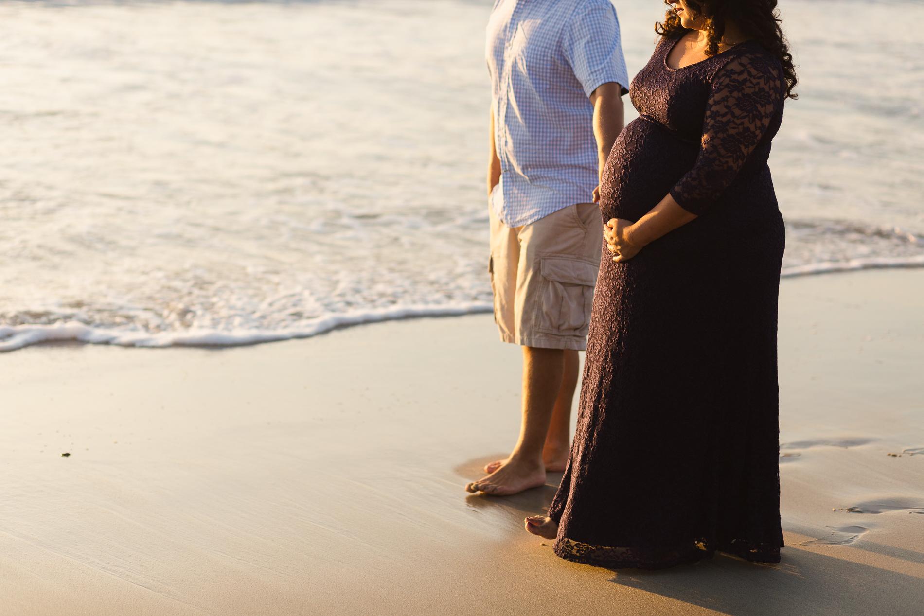 San Diego Maternity Photographer Christine Dammann Photography Couple on beach 3