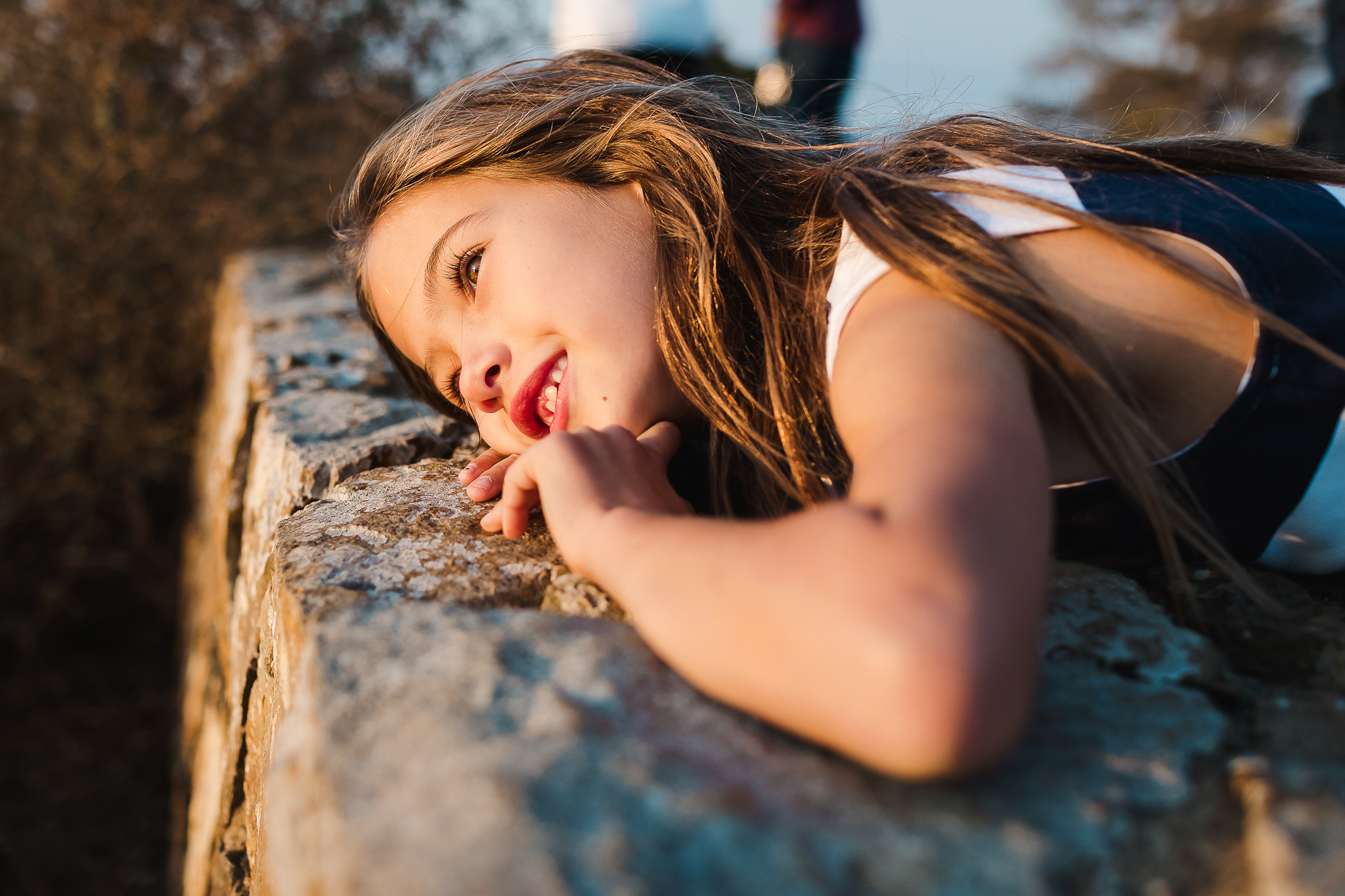 Girl at Point Loma Lighthouse in San Diego