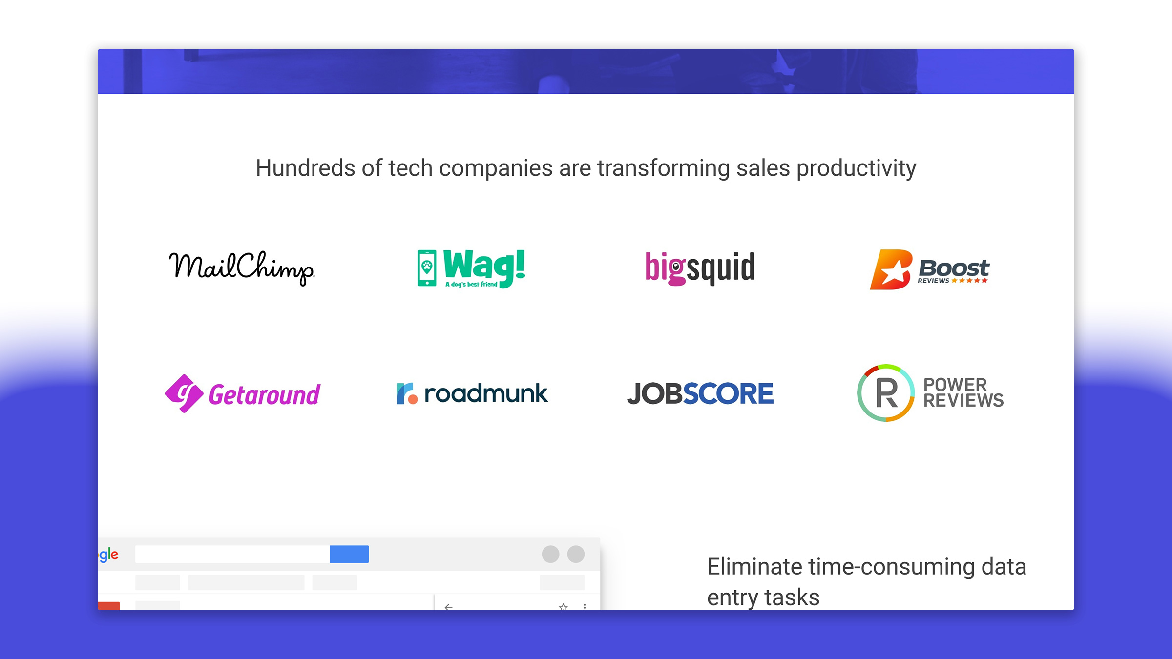 Our Technology industry page targeted the new breed of tech-driven startups. The logo grid on all of our pages was easily updatable via the CMS, making it easy to reconfigure by anyone on our marketing team.