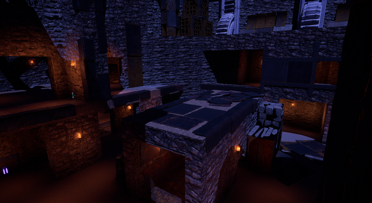 Added some props to break up repeating textures.