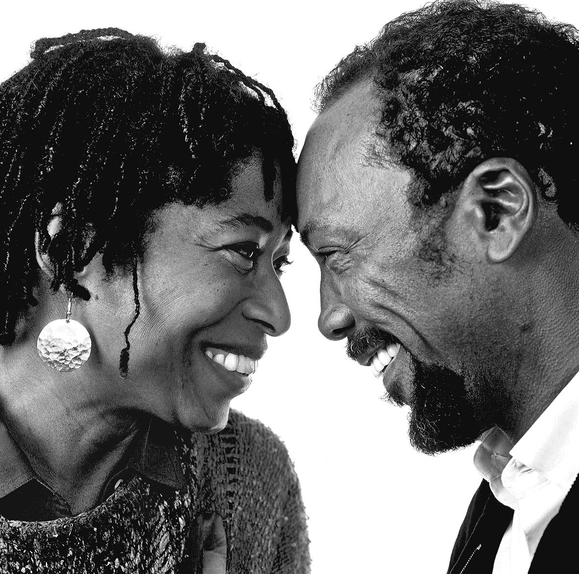 Alice Walker and Quincy Jones