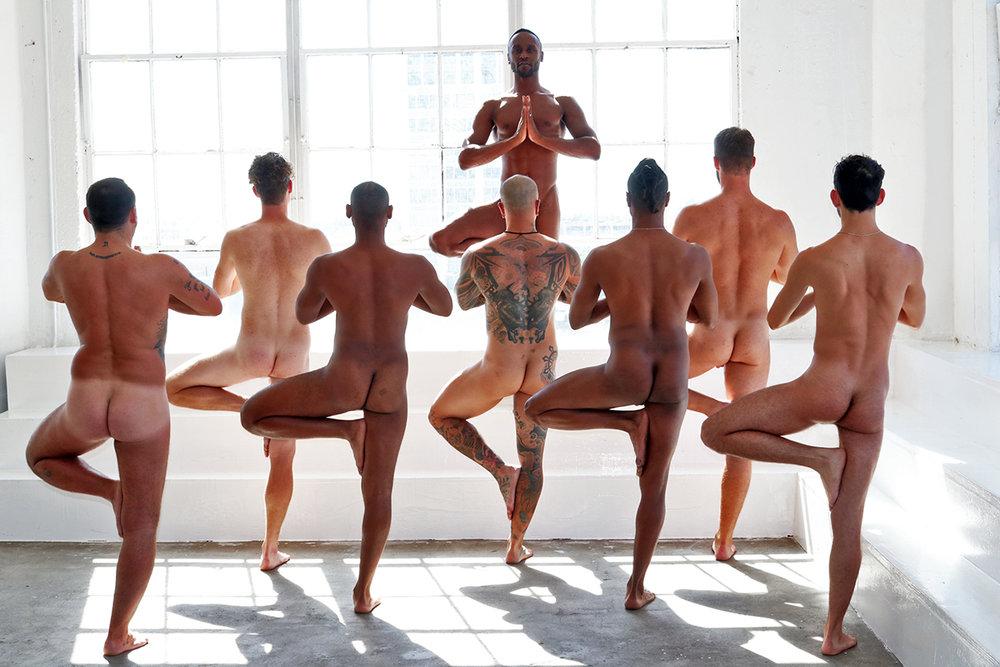 Men Doing Yoga Naked