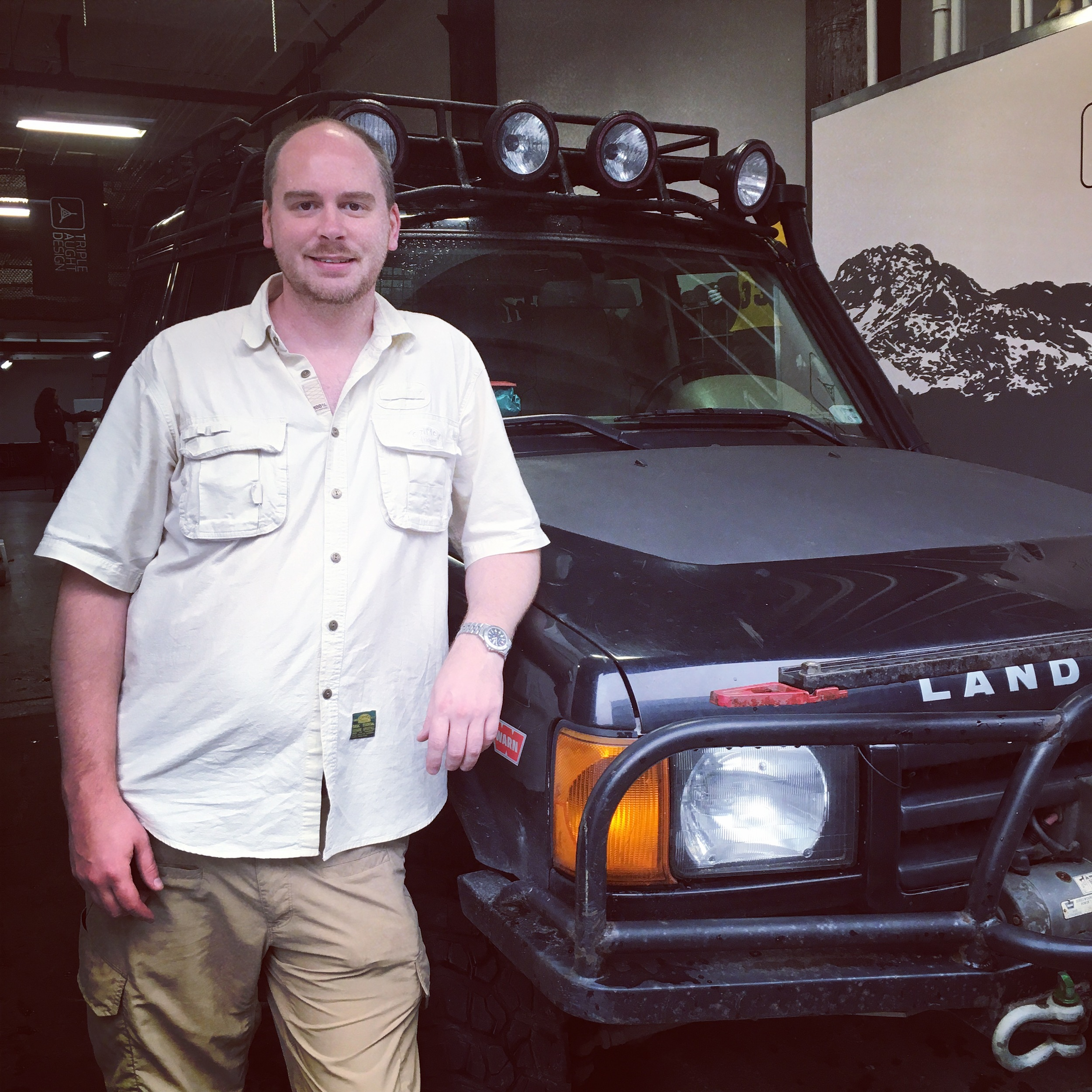 Brenton Corns, and his 2001 Land Rover Discovery 2