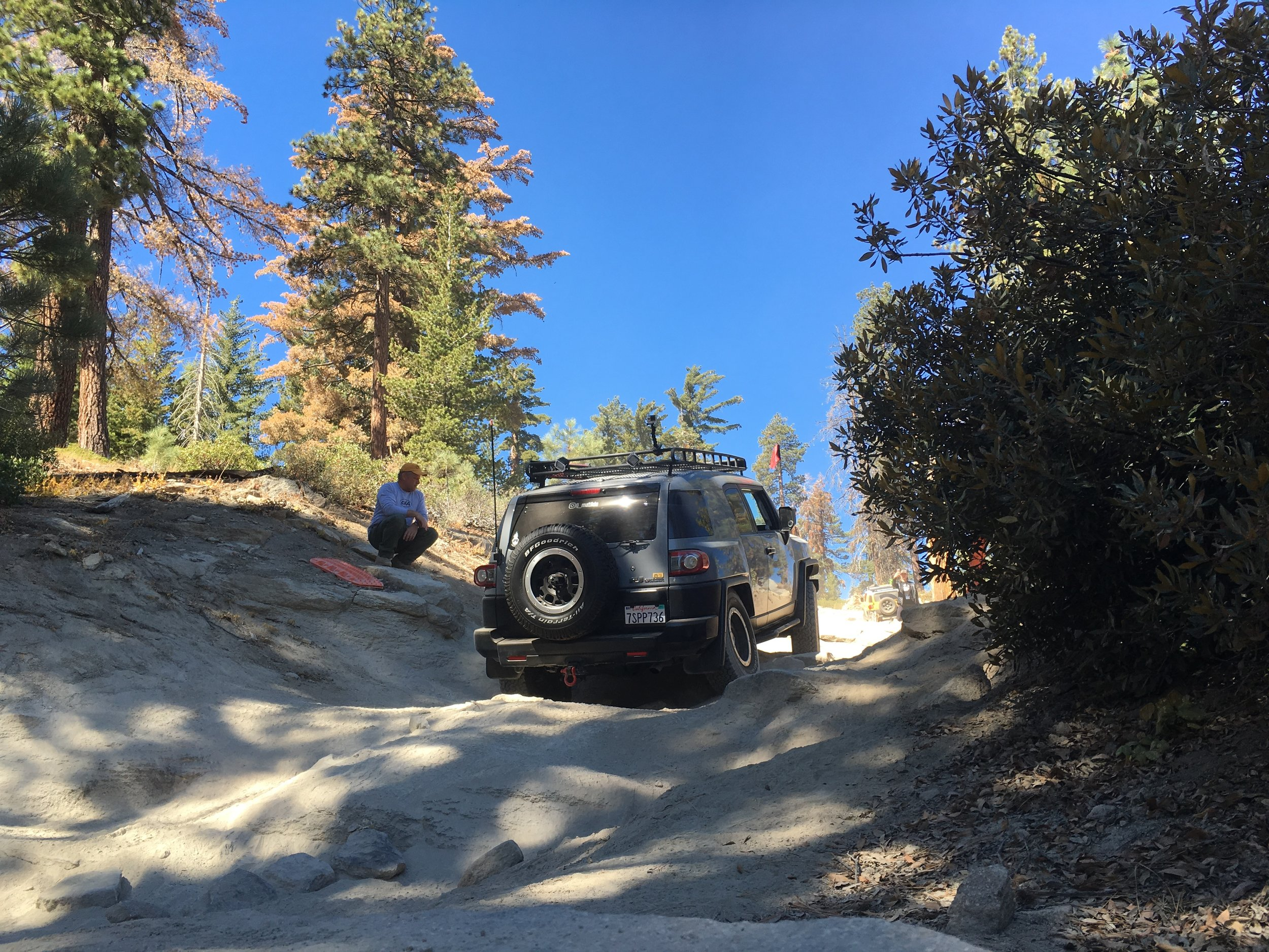 A little technical section on the way to the fire lookout.