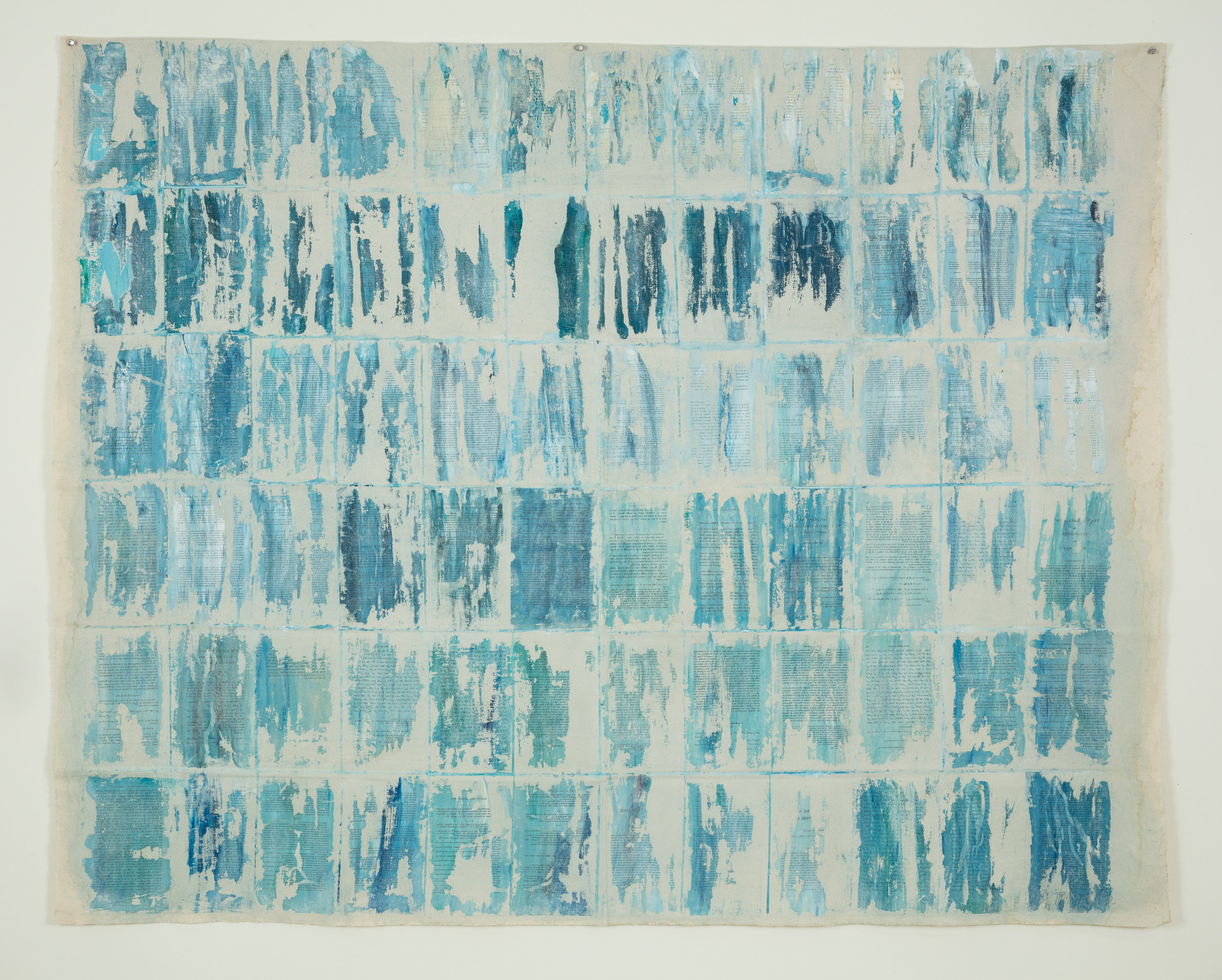 uncharted territory 5, 2015. Printed papers and acrylic on canvas, 138 x 173cm