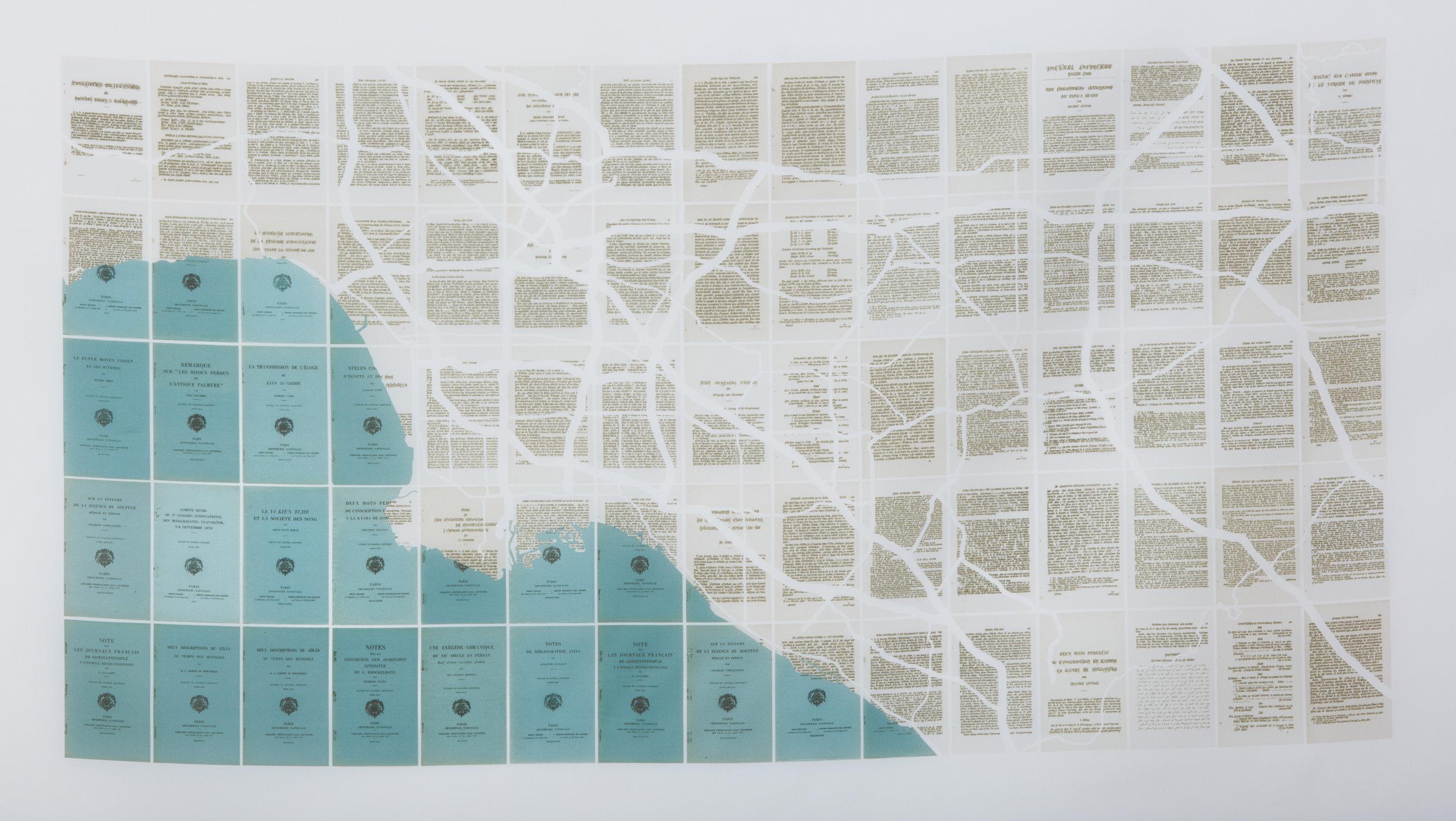 Behemoth Los Angeles, 2017. Inkjet impression on silk/organza, 27 x 46in (71 x 117cm). Edition of 4