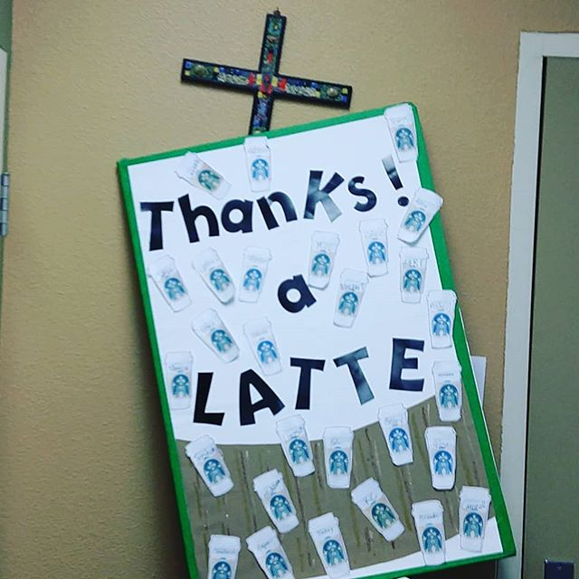 Thanks a LATTE for dying for our sins Jesis