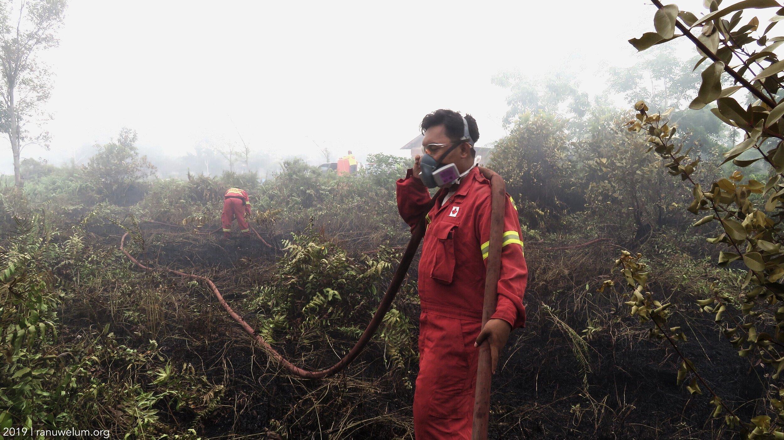 M. Maulana Razaqi, 18 years old Youth Act Volunteer in Katuyung Firefighters Team.