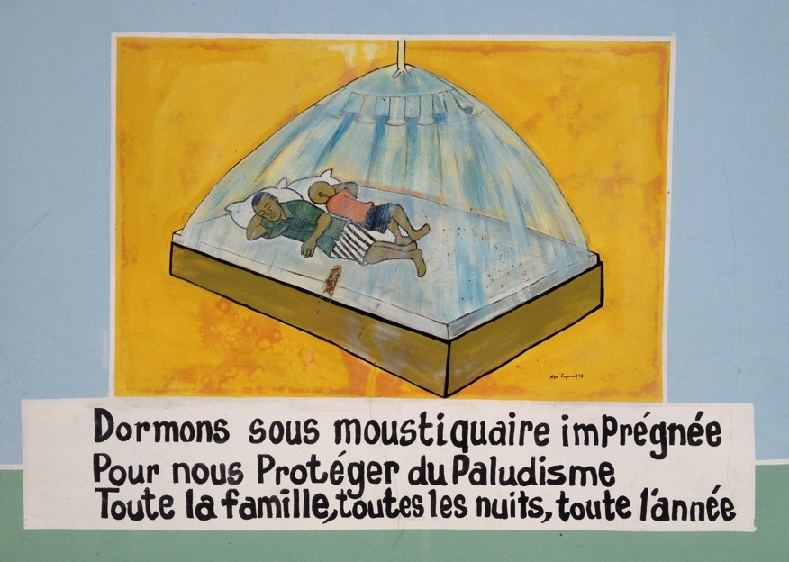 Public awareness campaign for using bed nets in Guédiawaye, Senegal. Picture from author's collection.