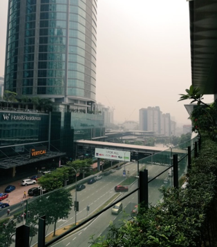 Depiction of air pollution in Kuala Lumpur