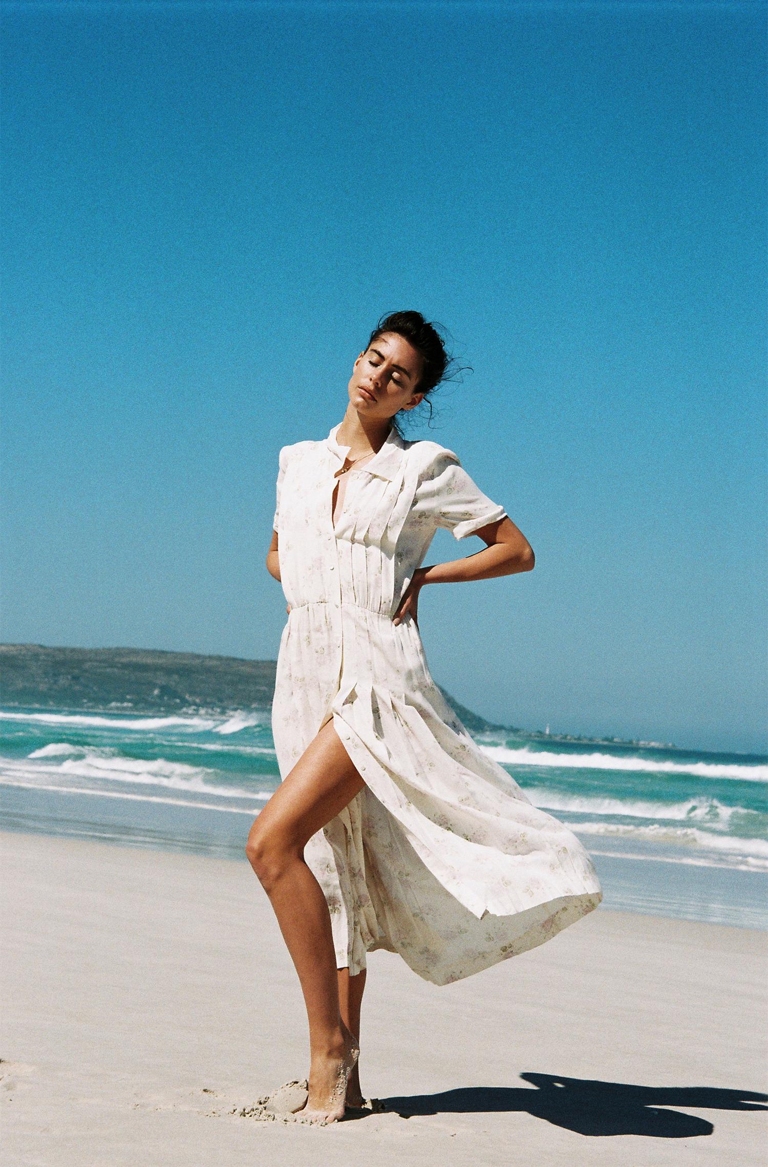 White dress, vintage at  Nevernew
