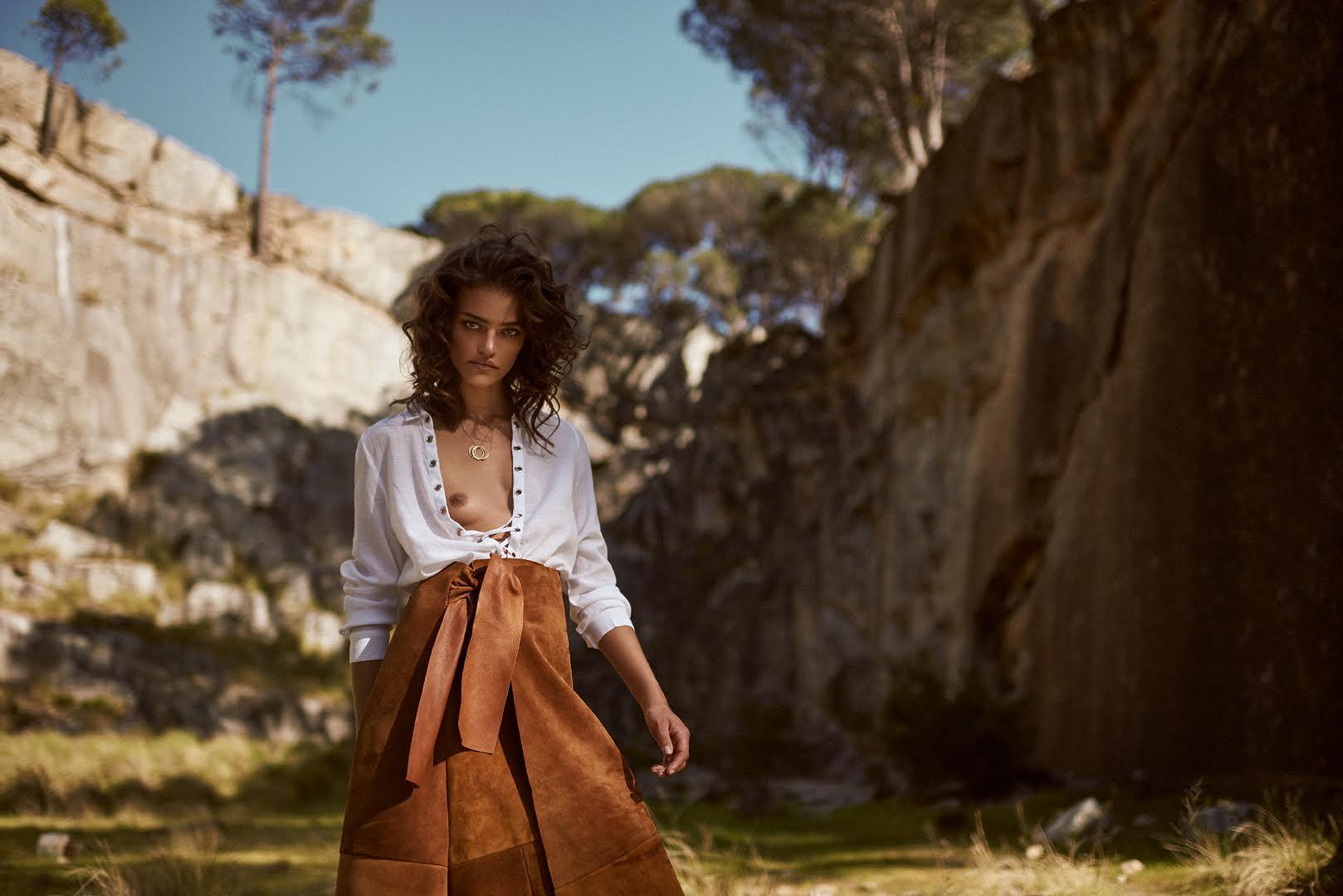 Criss cross shirt and wrap skirt,  Noël of Me by Demet Karatas