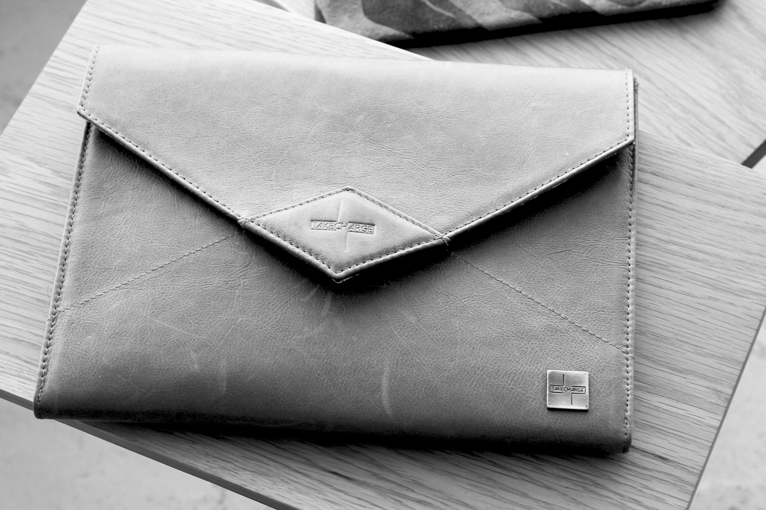 Leather iPad case by Take Charge