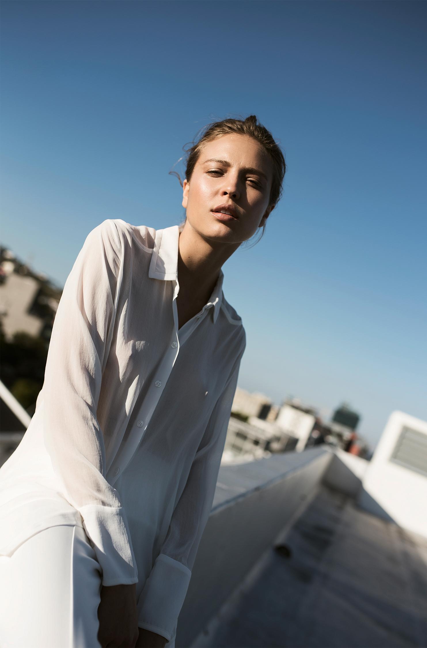 Shirt, Sonia by Sonia Rykiel; trousers, Habits