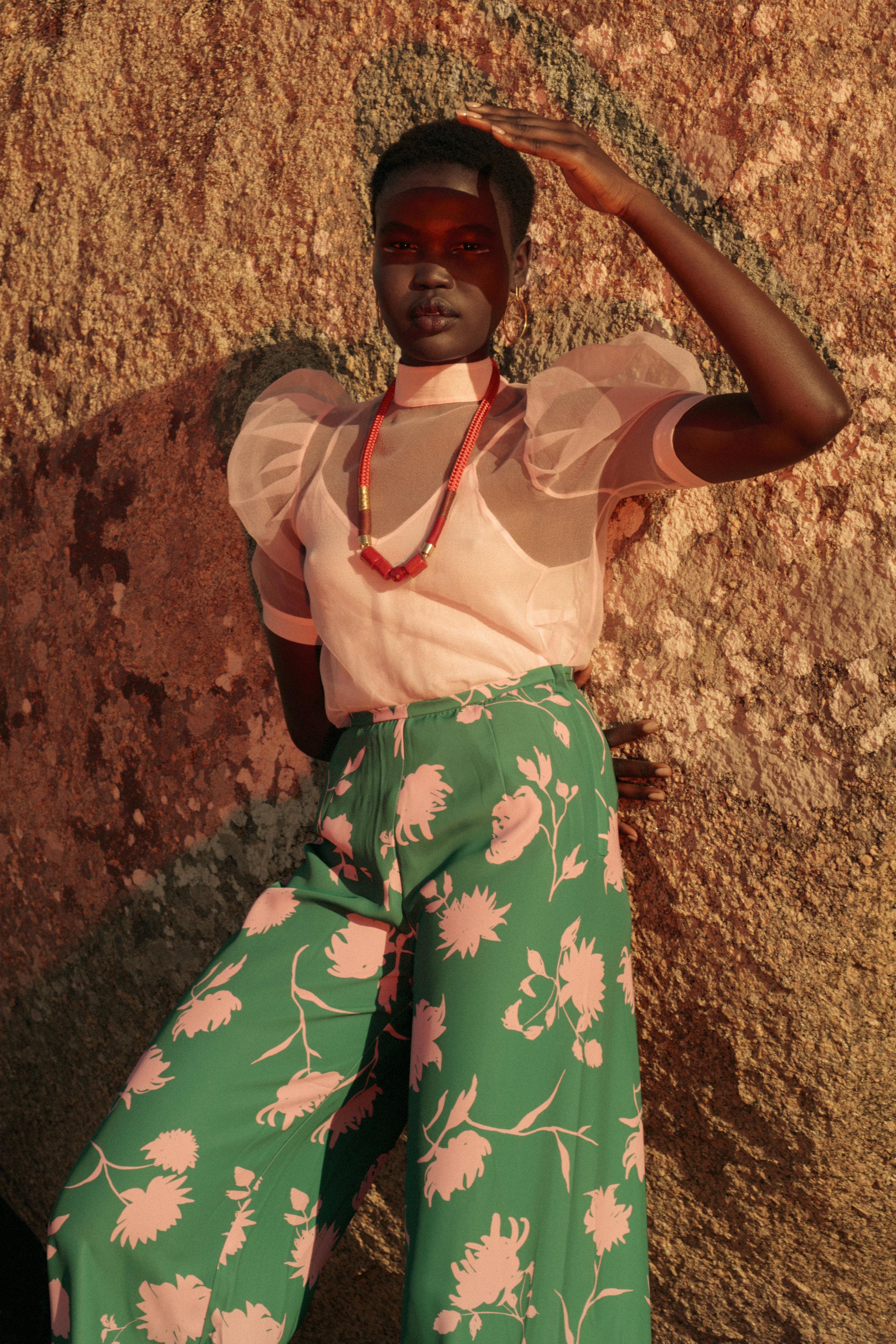 Pants, stylist's own;necklace, PICHULIK