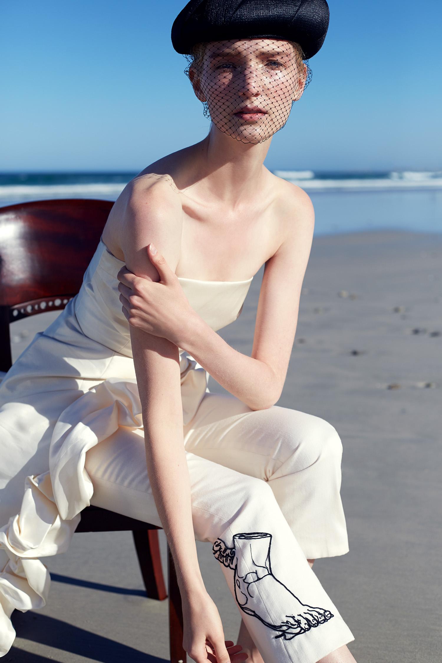Dress,Galluzzi e Gini; trousers,Meg Taljaard; hat,stylist's own