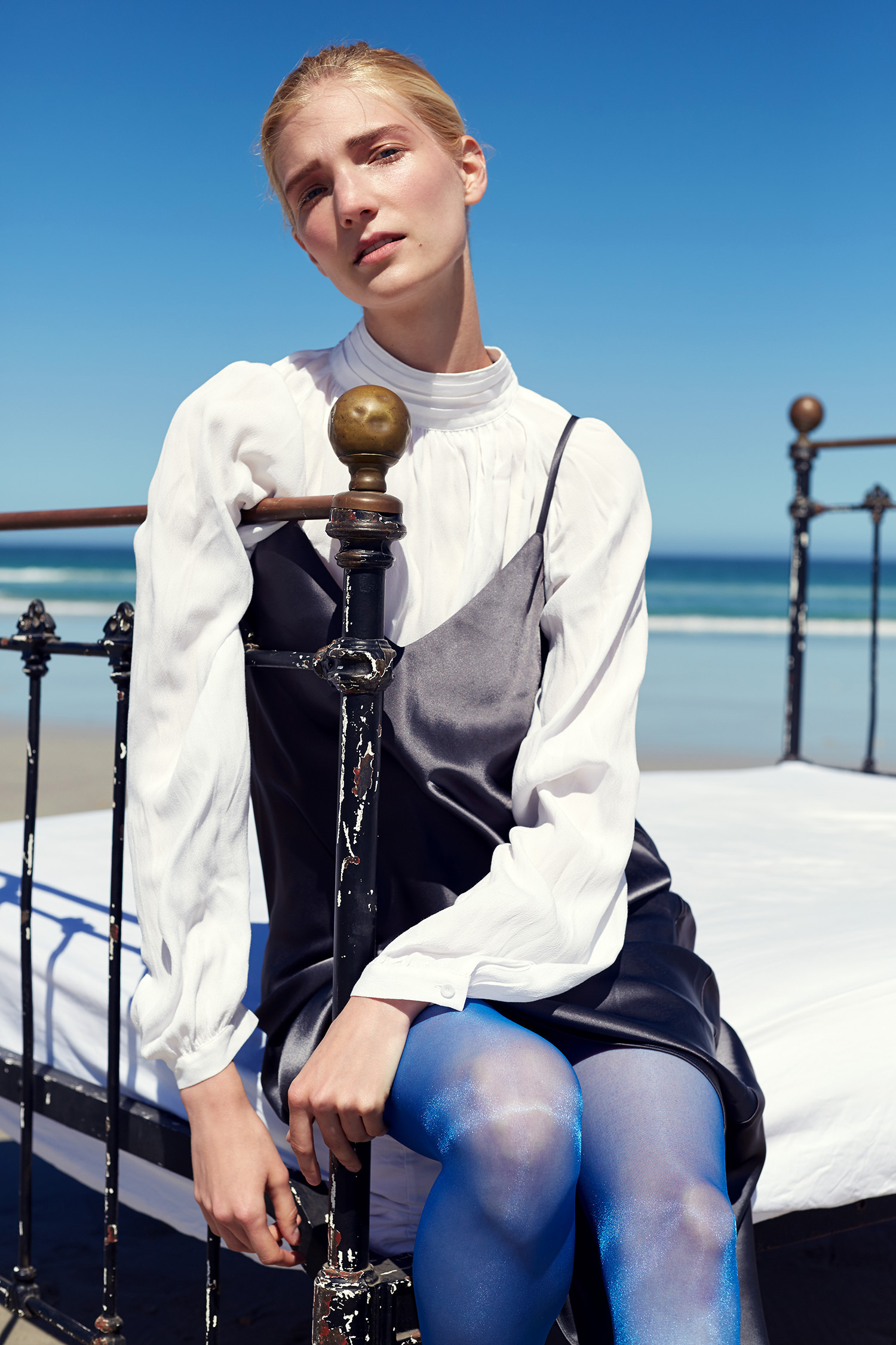 Shirt,Trenery; dress,Witchery; stockings,Philippe Matignon