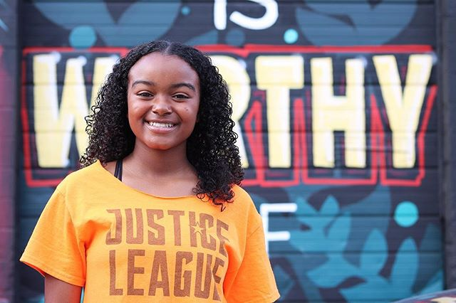"""We at the Justice League are proud to be part of the solution."" - Denim Moore of @meyzeekmiddle. . . 📸 by @j_jmiller in front of @oftenseenrarelyspoken mural.  Contribute your photo and quote by tagging @WorthyofEverything on Instagram and using  #WorthyOfEverything across social media platforms!"