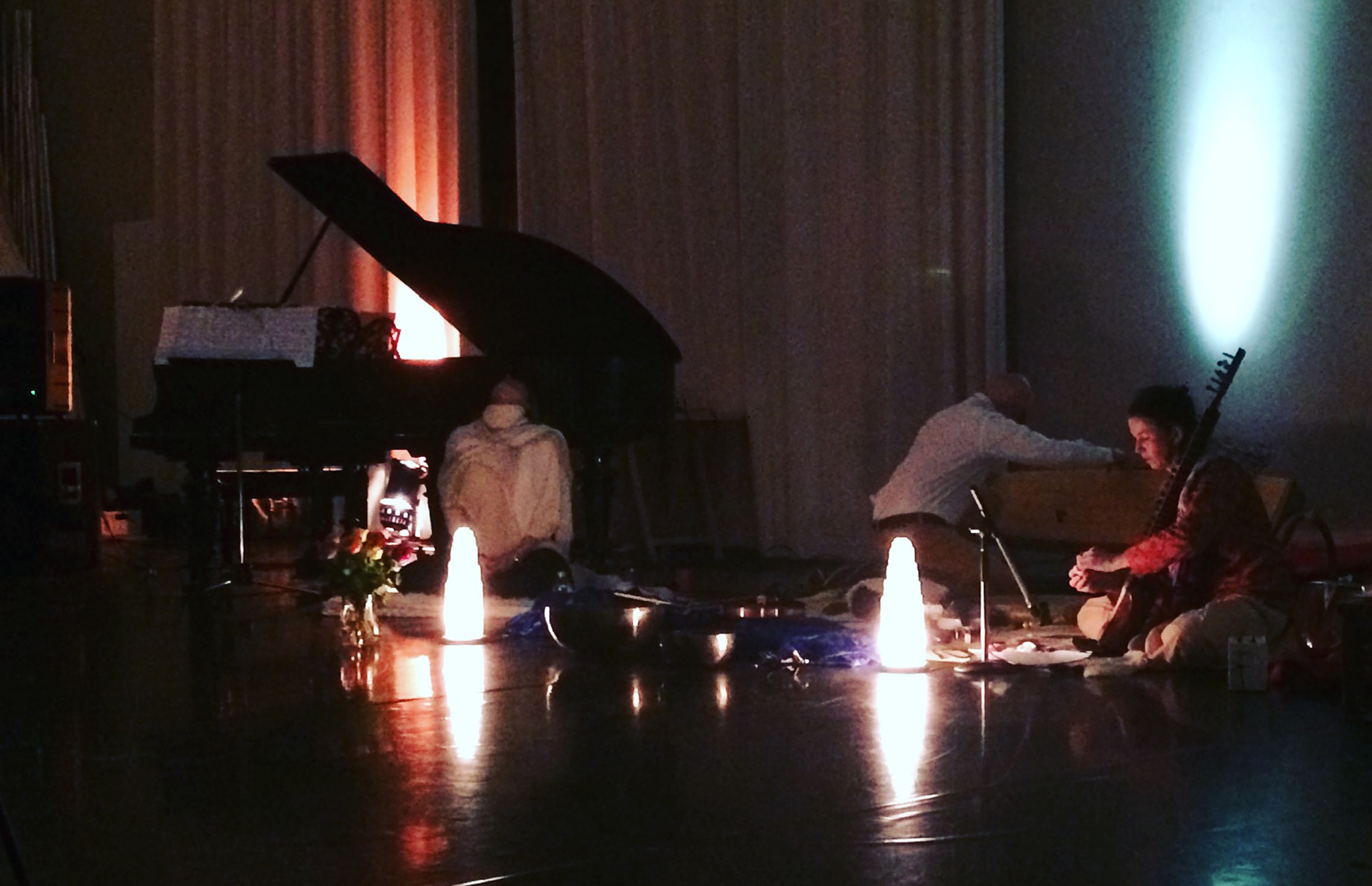 My magical  Selenite Crystals lamps  on stage.