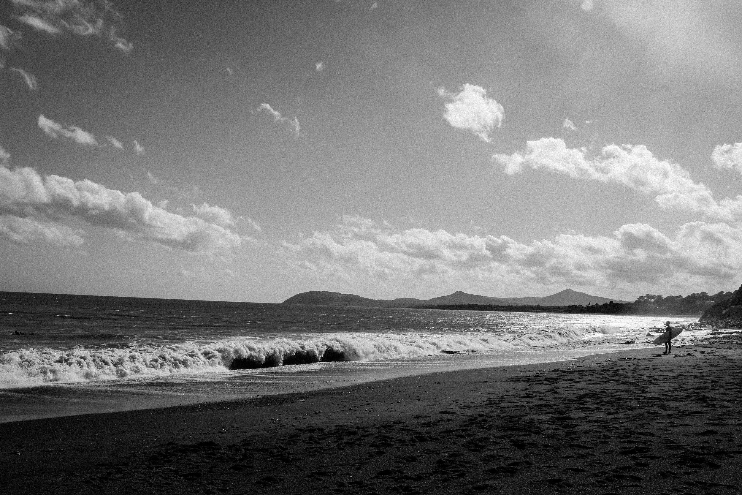 Waves east coast Ireland