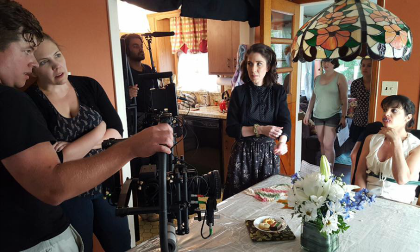 Onset of Heather Taylor's short film Stitched. Photo by Nikolai Basarich