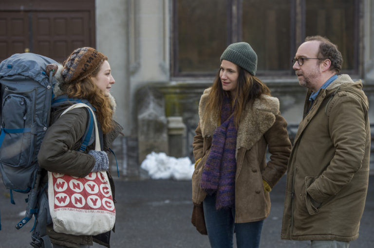 Kayli Carter, Kathryn Hahn and Paul Giamatti in 'Private Life' – Photo Credit: Jojo Whilden, Courtesy of Netflix, ©2018