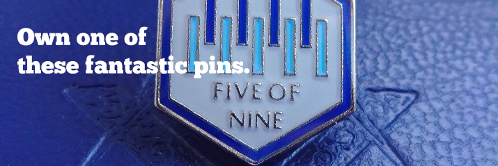 Five of Nine Club - Lapel Pin