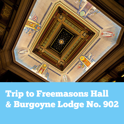 IMAGES FROM VISIT TO FREEMASONS HALL