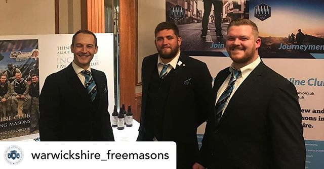 A brilliant evening at the @warwickshire_freemasons Initiates Supper. Our team we're out to spread the message about #5of9 and we welcomed 10 new members into the club. @nymc_uk @unitedgrandlodgeofengland