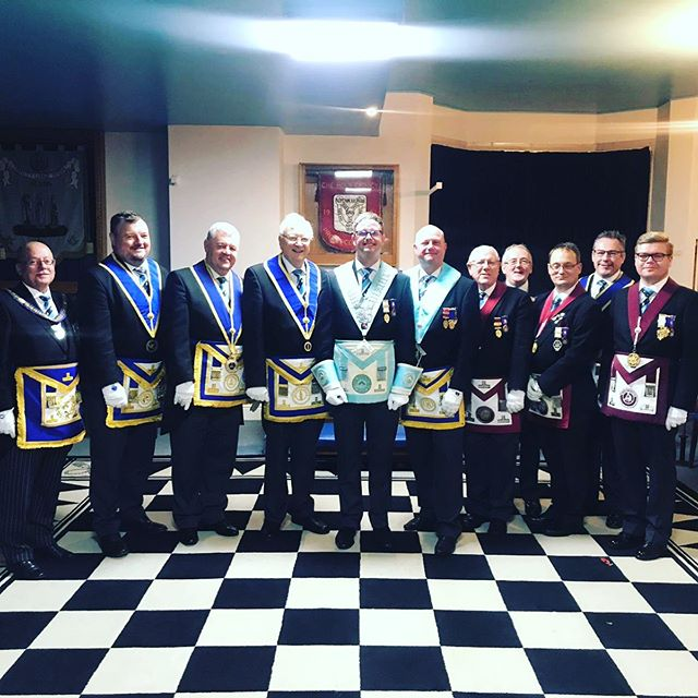 Congratulations to W Bro Charles Ingram, one of our #5of9 members who was installed as WM of Coventry Foundation Lodge last night by his father. #freemasonry @unitedgrandlodgeofengland @nymc_uk