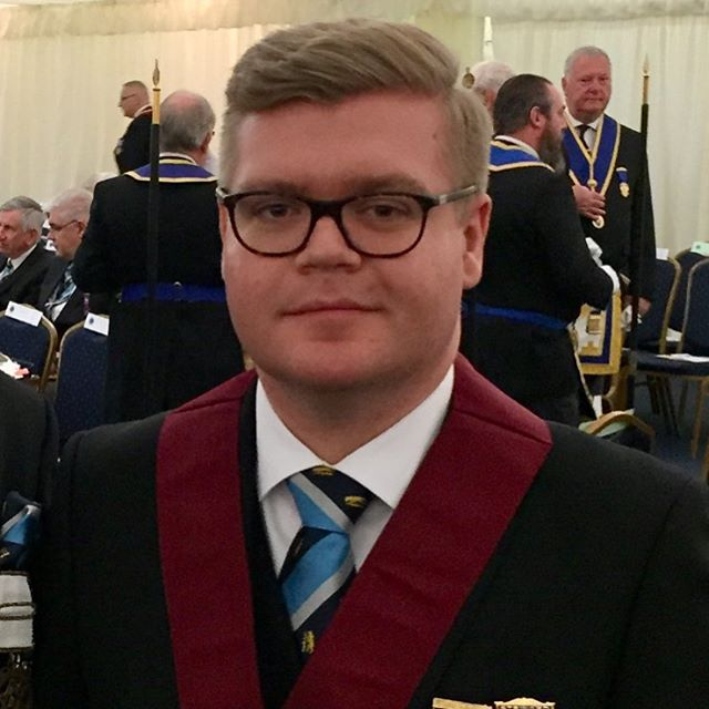 Huge Congratulations to one of our committee members WBro James Dalton who has been promoted by our Patron & Provincial Grand Lodge of Warwickshire ProvGM DF Macey halfway through the season to ProvAGDC losing the Provincial Stewards red and becoming a #darkblue we're very proud of you! #5of9