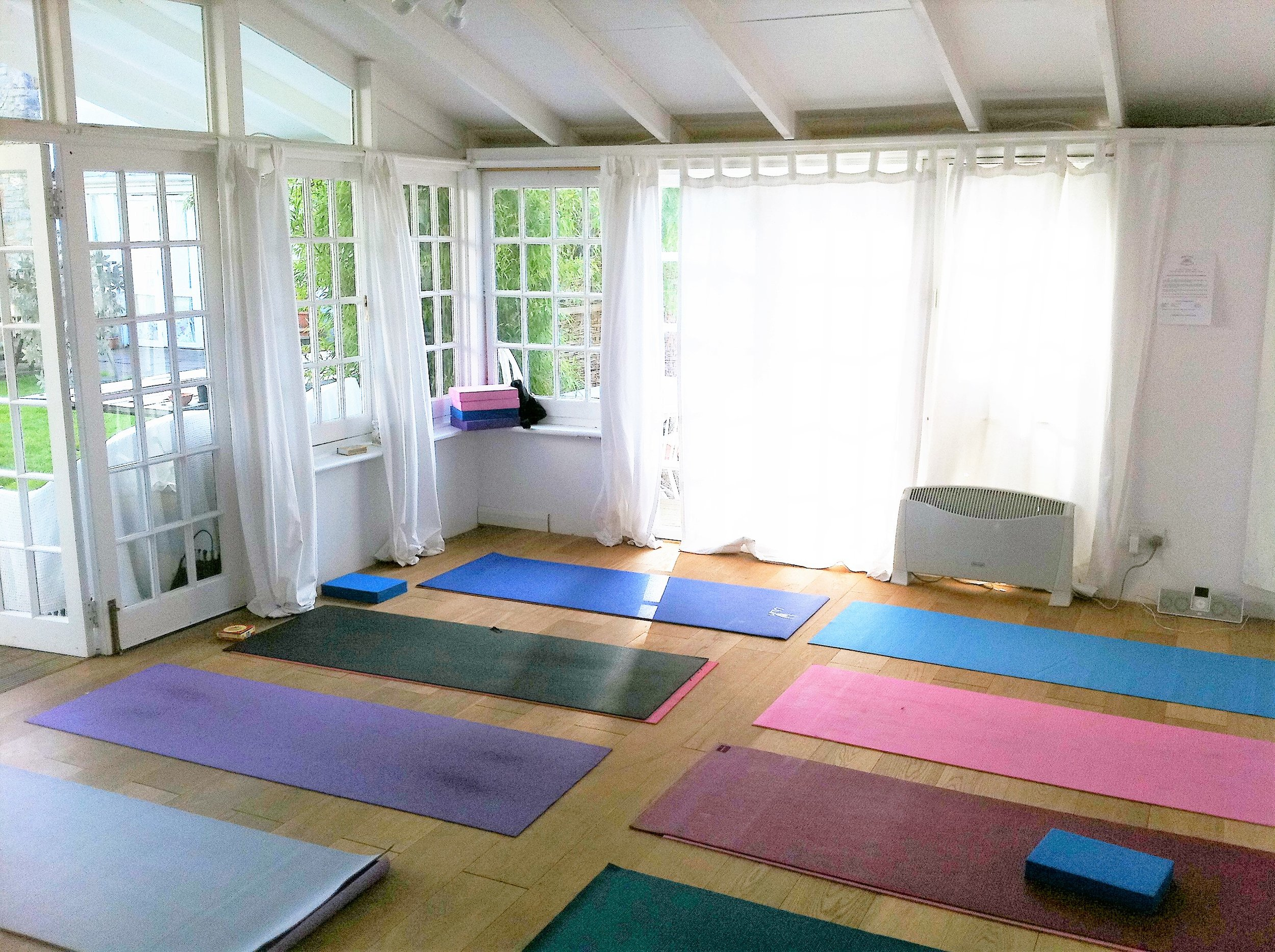 The Gabriel Room set up for a yoga workshop