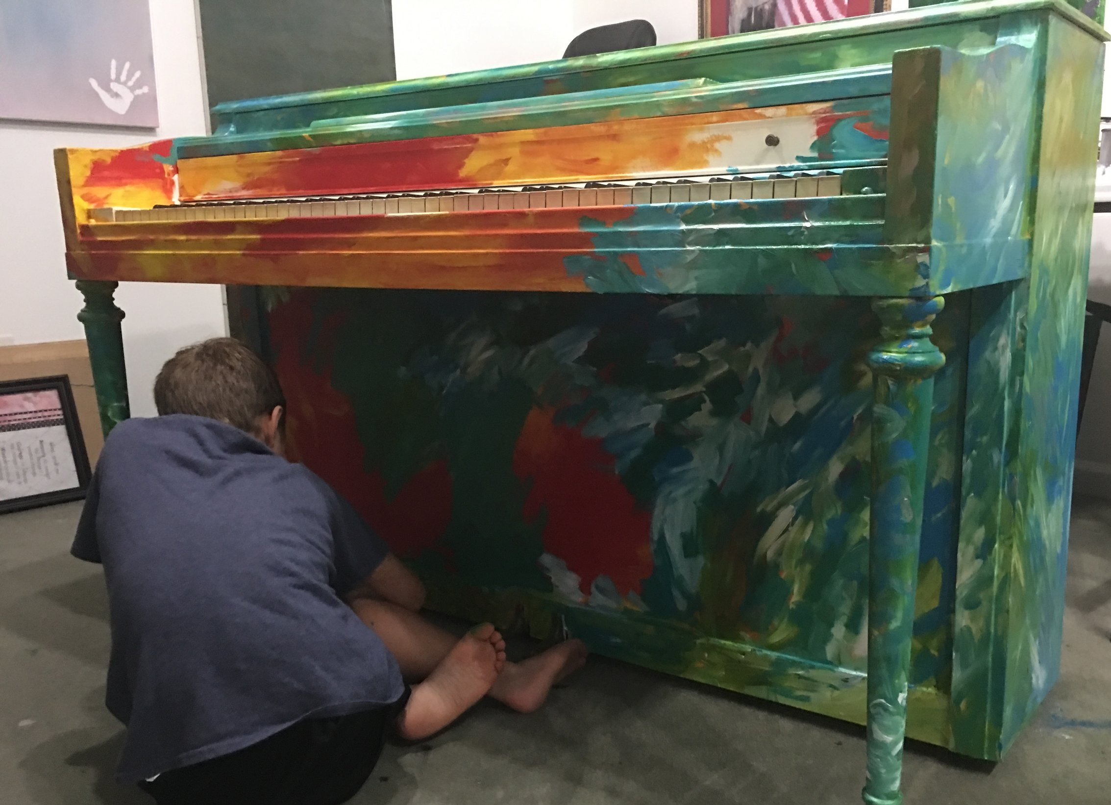 liam agans painting 'liam' for the woodruff arts center.