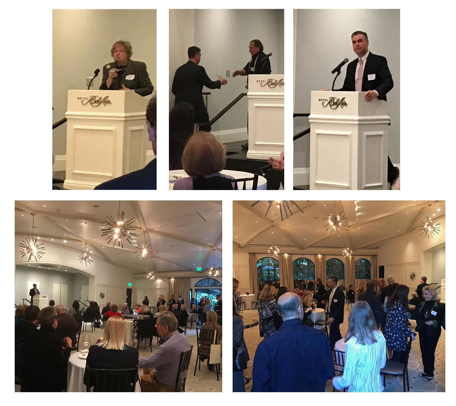 BAA Chairperson, Marcia Hobbs, and dan love, BAA President, addressed the membership.  fred rosen, President and ceo of bel air homeowners alliance welcomed shawn bayliss to the podium