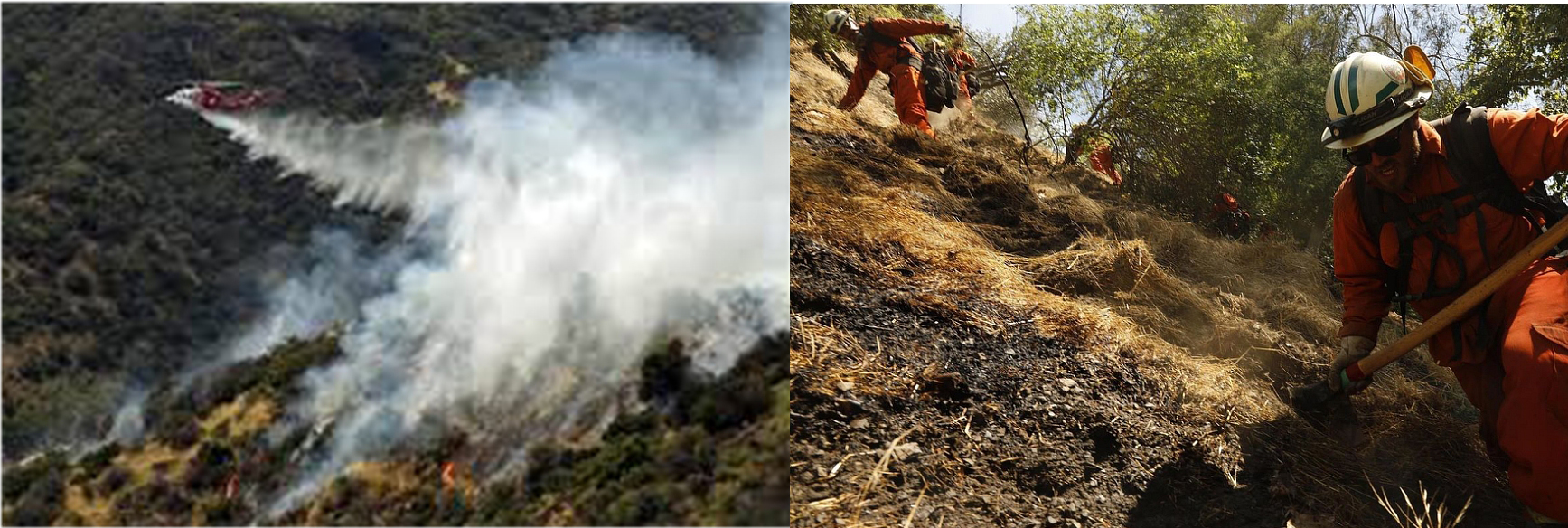 Images from Benedict Canyon's Portola Fire in June 2018 that was caused by a weed whacker.