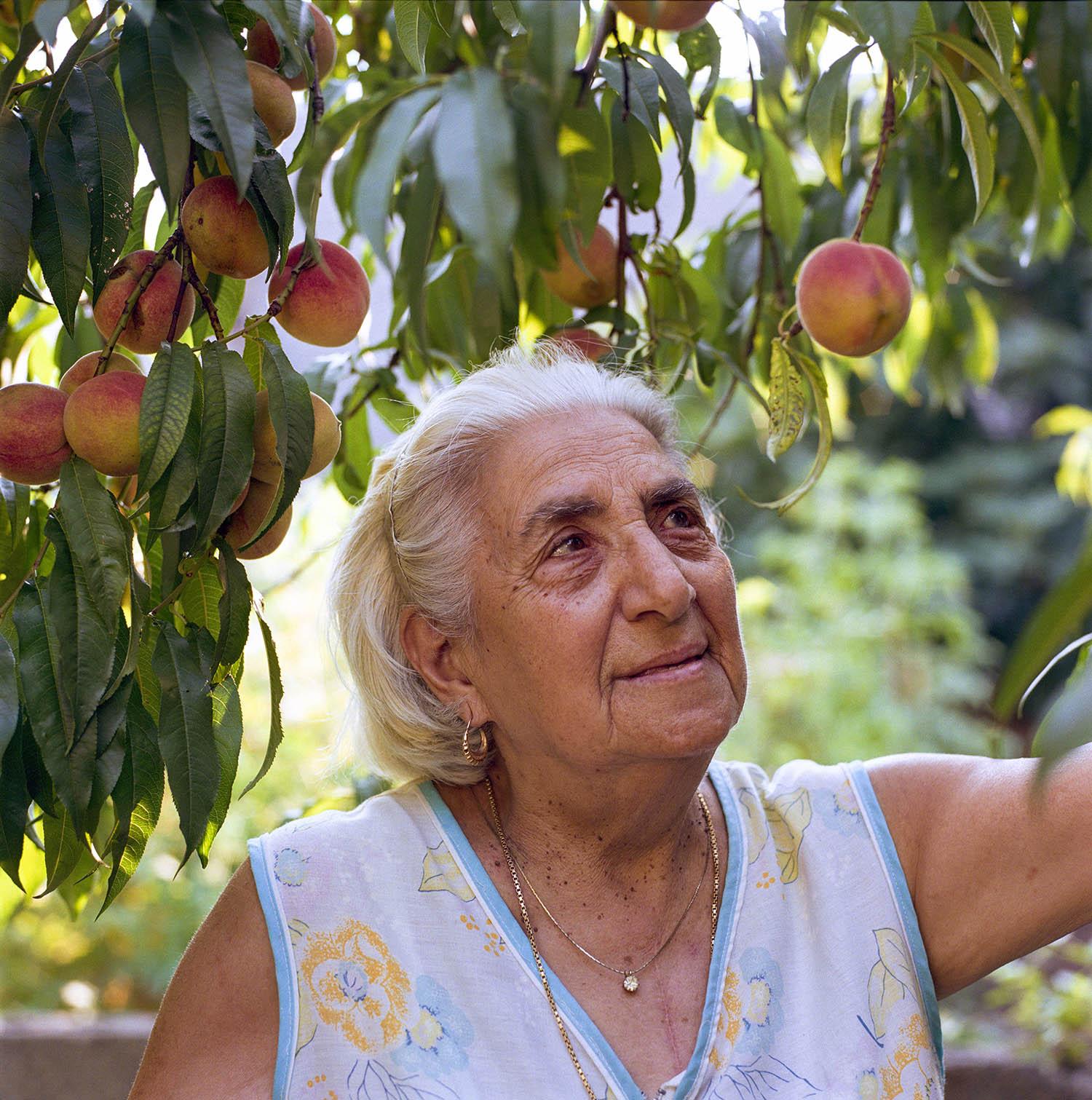 Rosa Vasta in Her Back Yard