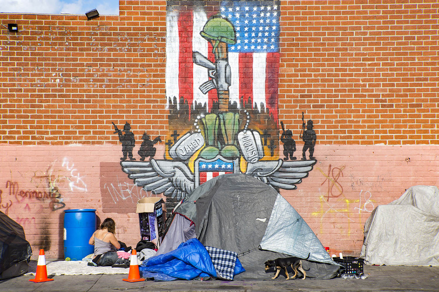 Skid-row-morning-homeless-woman-flag-mural-los-angeles.jpg