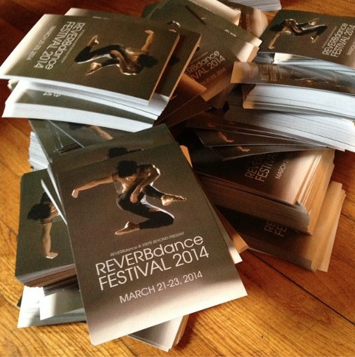 Get on your feet!   Thanks to NYC choreographer/producer/dancer Kate Griffler for posting images of the promo materials we did together for this year's REVERBdance Festival. Katie, I'm already looking forward to designing for next year's event!